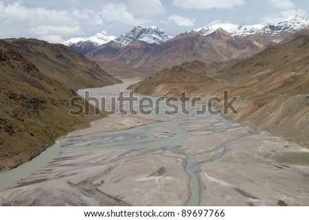 river flowing in the mountains