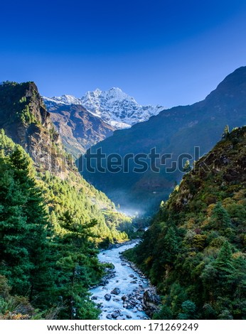 River from himalayas - stock photo