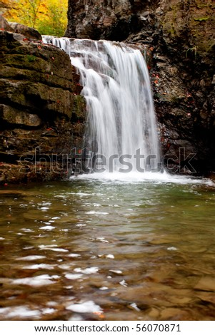 River in autumn season - stock photo