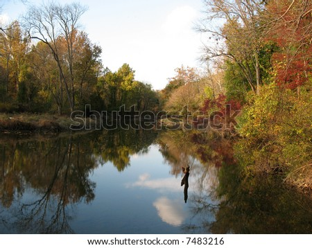 River in fall