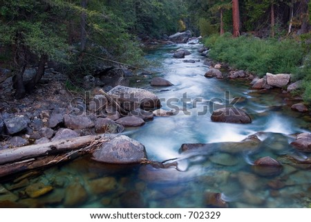 River in King's Canyon National Park - stock photo