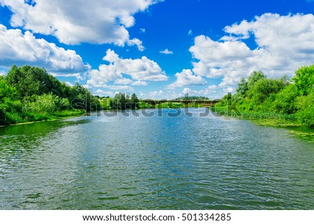 river in summer day