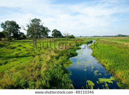 River in the countryside - stock photo