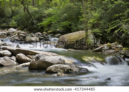 River in the smoky mountains.