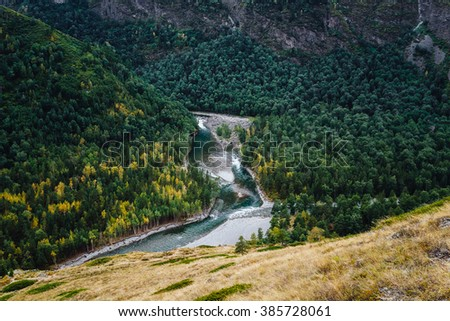 River in the valley