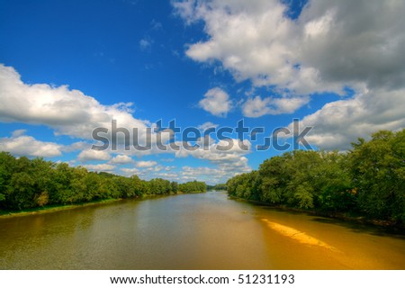 River landscape - stock photo