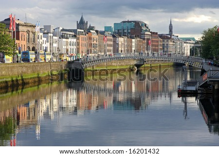 river liffey, evening light