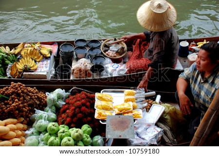 river market - stock photo