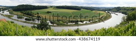 River Neckar in Poppenweiler in Germany - stock photo