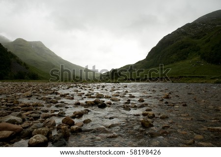 river Nevis  in the Scottish Highlands - stock photo
