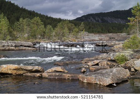River otra in the Setesdal, Norway