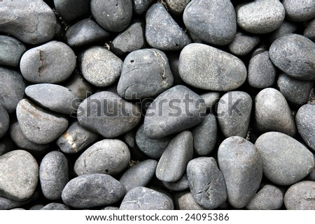 River Pebble Background - stock photo