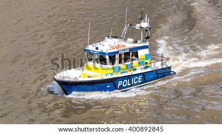 River Police Boat. Marine Police Force - stock photo