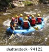River rafting on Clear Creek, Idaho Springs, Colorado - stock photo