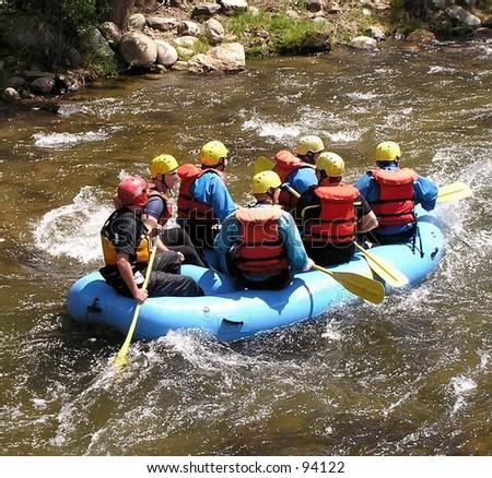 River rafting on Clear Creek, Idaho Springs, Colorado - stock photo