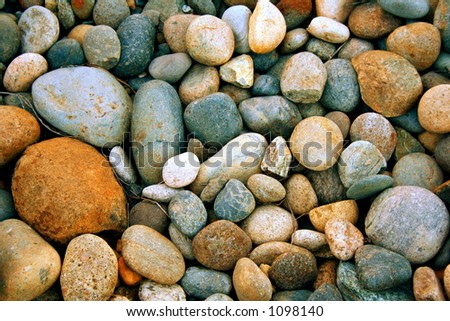 river rock background - stock photo