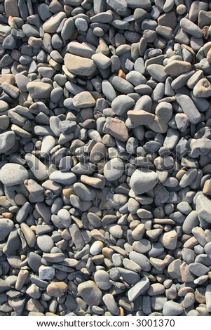 River Rock Background Texture - stock photo