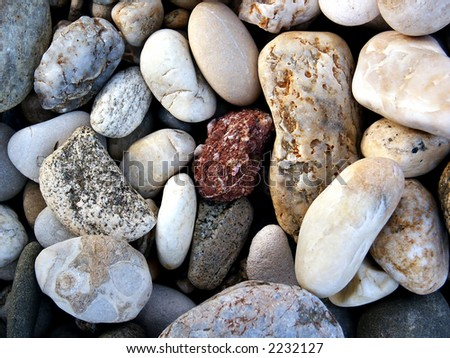 River rocks background. Macro. Detail - stock photo
