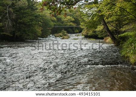 river running in the valley
