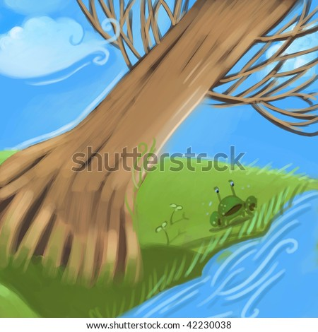 river (search the word nikos for more) - stock photo