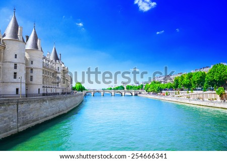 River Seine - stock photo