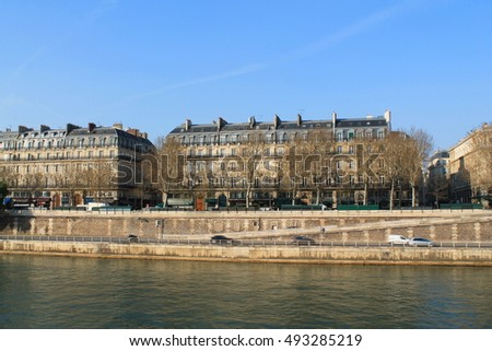River Seine in Paris, Capital city of France