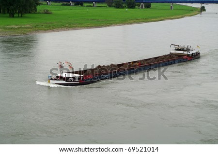 River ship - stock photo