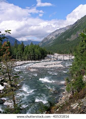 River Shumak, Siberia, Russia - stock photo
