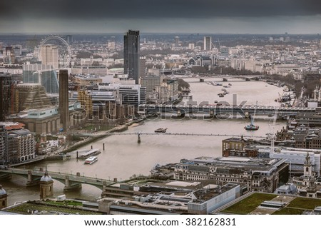 River Thames, London, England - stock photo