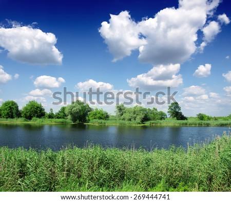 River Tisza - stock photo