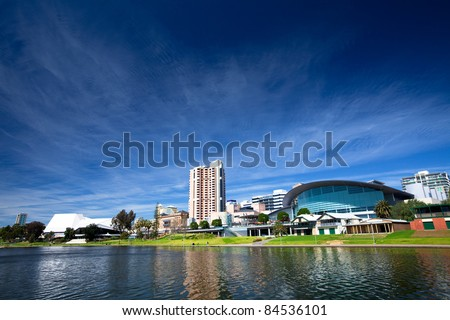 River Torrens in the City of Adelaide, South Australia - stock photo