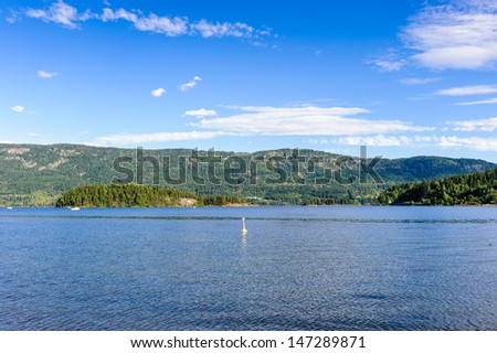 River valley of Norway, Europe - stock photo