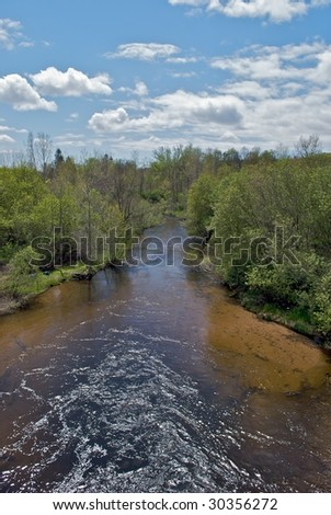 River view - stock photo
