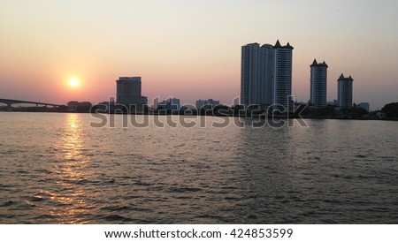 River view in sunset