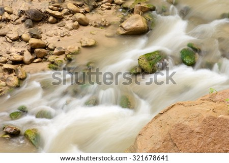 River view in Zion National Park, Utah, Usa. - stock photo