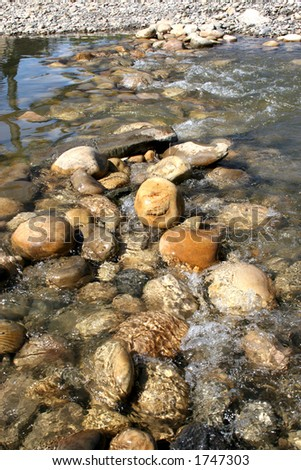 River washing over stones.
