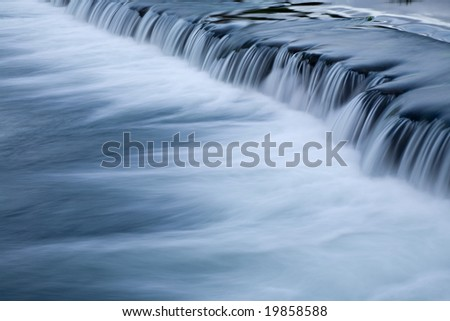 river waterfall in the portuguese national park
