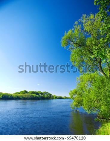 rivers nature - stock photo