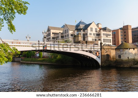 riverside of york - stock photo