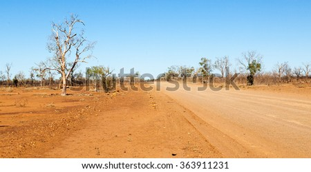 Riversleigh far outback Queensland is world famous fossil site near Lawn Hill - stock photo