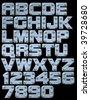 Riveted metallic alphabet you can compose - stock vector