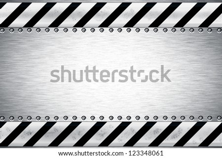 Rivets in textured steel background - stock photo