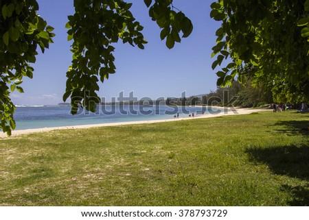 Riviere Des Galets beach - Mauritius - stock photo
