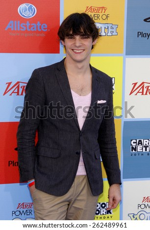 RJ Mitte at the Variety's 6th Annual Power Of Youth held at the Paramount Studios in Hollywood on September 15, 2012. - stock photo