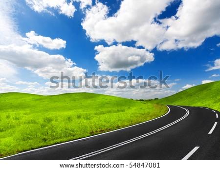 Road - stock photo