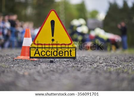 Road accident - stock photo