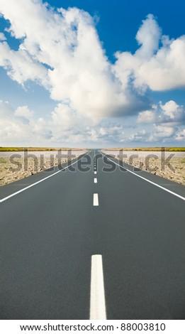 Road ahead - stock photo