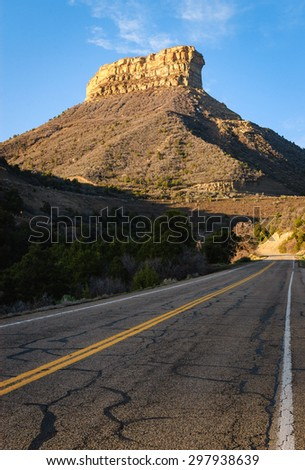 Road and Buttes at Mesa Verde National Park