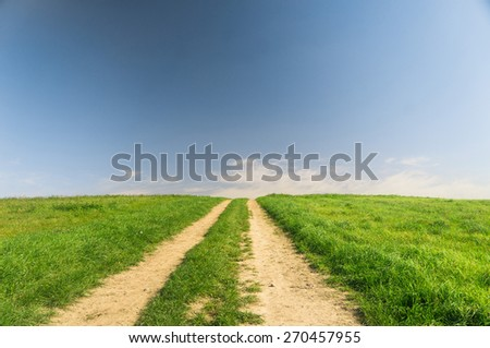 Road and Nobody Vibrant Colors  - stock photo
