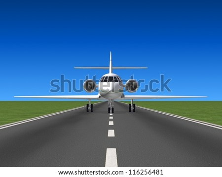 Road and plane